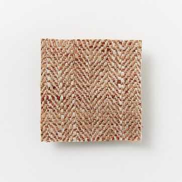 Upholstery Fabric By The Yard, Herringbone Tweed , Yam - West Elm