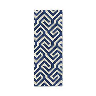 Key Dhurrie, 2.5'x7' (Runner), True Blue - West Elm