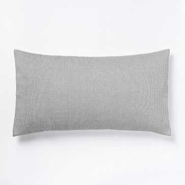Nordic Textured Jacquard King Sham, Slate - West Elm