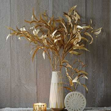 Faux Metallic Eucalyptus Stem - West Elm
