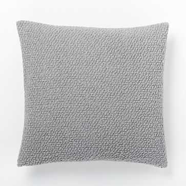 """Cozy Boucle Pillow Cover, 18""""x18"""", Platinum - West Elm"""