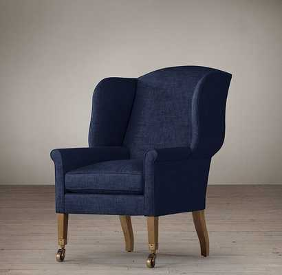 ASHER UPHOLSTERED CHAIR - Army Duck - Indigo - RH