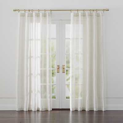 "Linen Sheer 52""x63"" Natural Curtain Panel - Crate and Barrel"