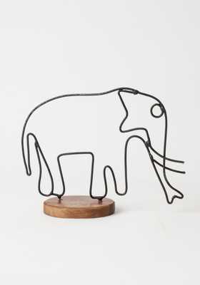 Elephant Figurine - Wire - Bohem