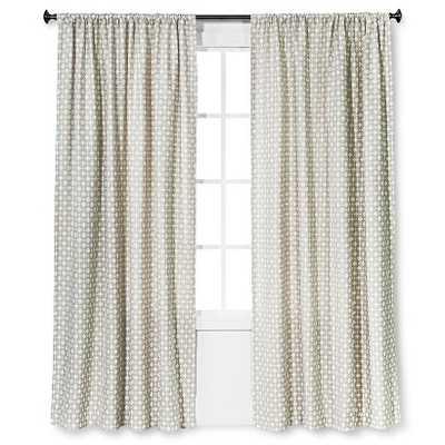 "Woven Curtain Panel Creamy Chai - 54""W x 108""L - Target"