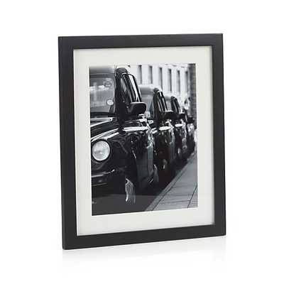 Matte Black 8x10 Picture Frame - Crate and Barrel