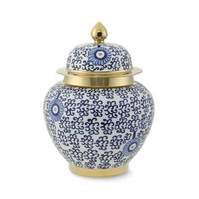 Ginger Jar with Gold Detail - Williams Sonoma Home