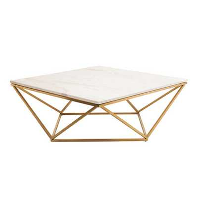 Galaxy Coffee Table With Gold Brushed Legs - blackforestdecor.com