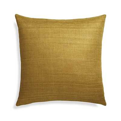 """Michaela Gold 20"""" Pillow with Down-Alternative Insert - Crate and Barrel"""