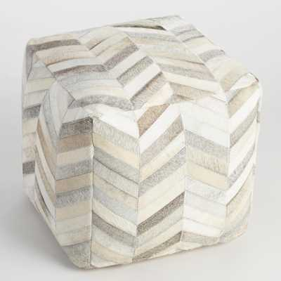 Cowhide Pouf - World Market/Cost Plus