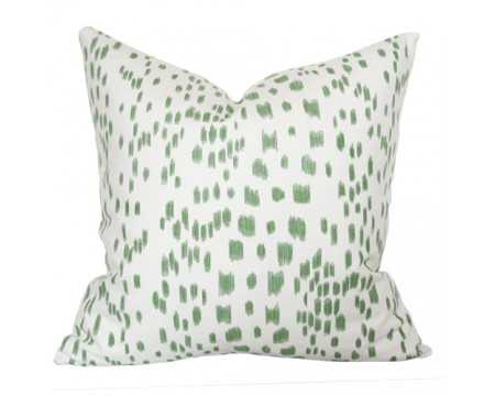 """Les Touches Green- 20"""" Sq. - Insert not included - Arianna Belle"""