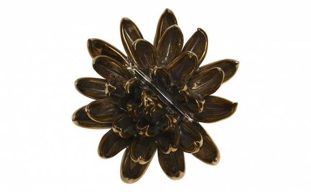 GILDED CERAMIC CHRYSANTHEMUM - Jayson Home