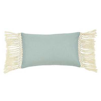 "Tassel Pillow- 12""H x 20""*- Spa - Feather/ down insert - Ballard Designs"