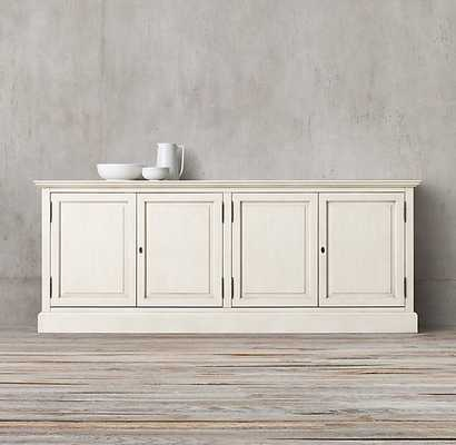"FRENCH PANEL SIDEBOARD - 72""W - Distressed White - RH"