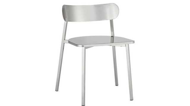 Fleet brushed nickel chair - CB2