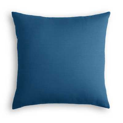 "Royal Blue Sunbrella® Canvas Pillow - Sunbrella® Canvas - Regatta - 18""x18"" - Down insert - Loom Decor"