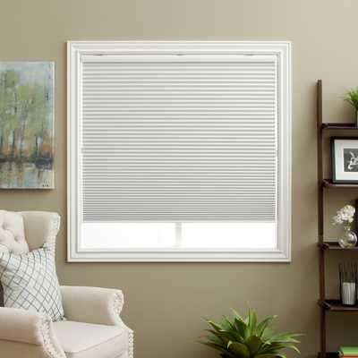 """Honeycomb White Cell Blackout Cordless Cellular Shades - 40""""W x 72""""L - Overstock"""