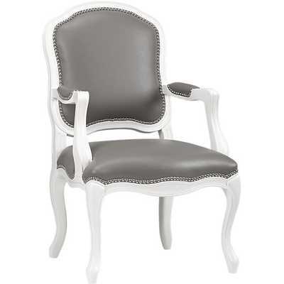 Stick around white-grey arm chair - CB2