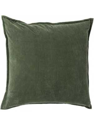 Maxen Pillow -  Dark Moss  - 20x20- Polyester Filled - Lulu and Georgia