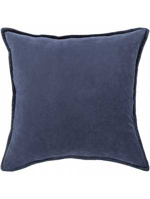 "Maxen Pillow, Navy - 18"" - Down insert - Lulu and Georgia"