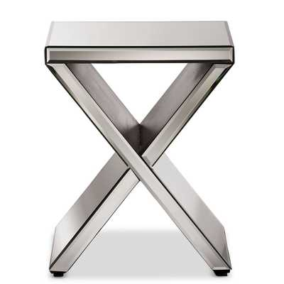 Morris Modern and Contemporary Hollywood Regency Glamour Style Accent Side Table - Lark Interiors