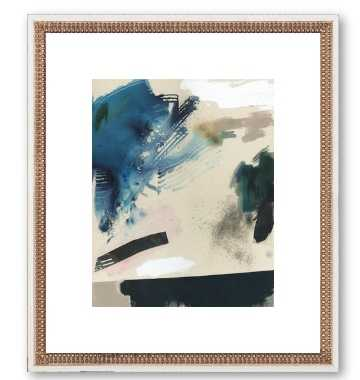 "Identity - 20"" x 23"" - White double bead frame - With Mat - Artfully Walls"