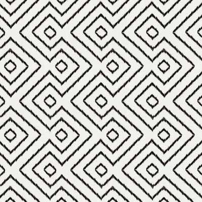 Black & White Diamond Fabric - Loom Decor