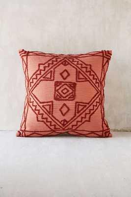 Magical Thinking Roya Crewel Tonal Pillow - Rust - Urban Outfitters