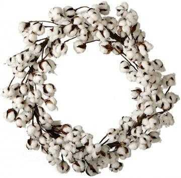 20 in. Cotton Ball Wreath - Home Decorators