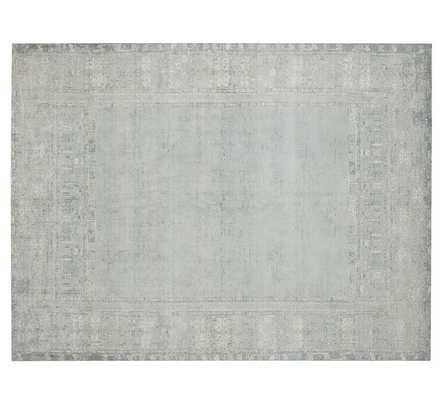 Kailee Printed Wool Rug - 5x8' - Porcelain Blue - Pottery Barn