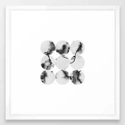 """1221 Art Print - 22"""" x 22"""" - Vector White Frame - Society6"""