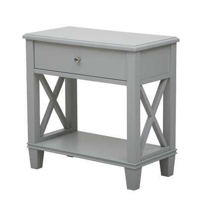 1 Drawer End Table - Light Gray - Wayfair