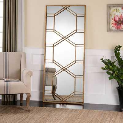 Uttermost Kennis Gold Leaf Leaner Mirror - 29W x 70H in. - Hayneedle