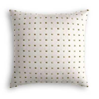 Throw Pillow - Stud Muffin - Oatmeal - 20'' x 20''- Down Insert - Loom Decor
