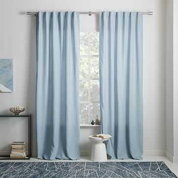 "Belgian Linen Curtain, Moonstone, 48""x108"" - West Elm"