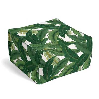 Square Pouf - Be Leaf It - Palm - Loom Decor