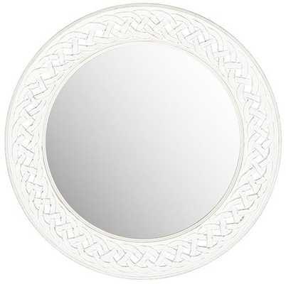 ELENORE WALL MIRROR - White - Home Decorators