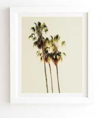 """THE PALMS - Framed Wall Art - 19"""" x 22.4"""" - Basic White Frame - Wander Print Co."""