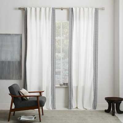 "Striped Weave Curtain - 96""l x 48""w - West Elm"