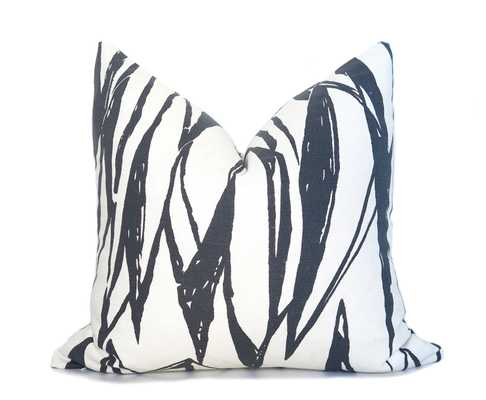"""Deco Pillow Cover - Charcoal - 12"""" x 18"""" - Insert not included - Willa Skye"""