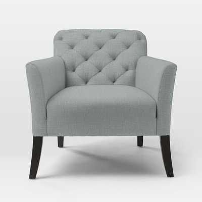 Elton Chair - Linen Weave, Dusty Blue - West Elm