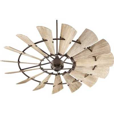 "72"" Rustic Windmill Ceiling Fan - Shades of Light"
