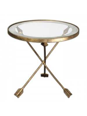 Aylen Glass Top Accent Table - Lulu and Georgia