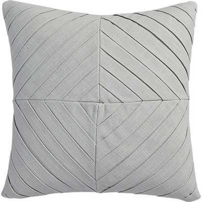 "Meridian light grey 16"" pillow- Feather insert - CB2"