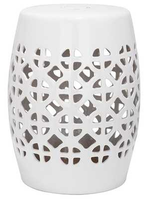 Sevilla Garden Stool - White - Home Decorators