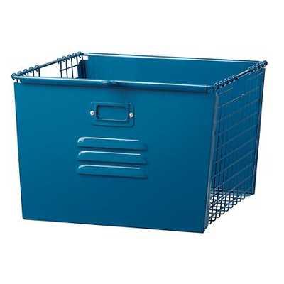Dk. Blue Metal Locker Basket - Land of Nod