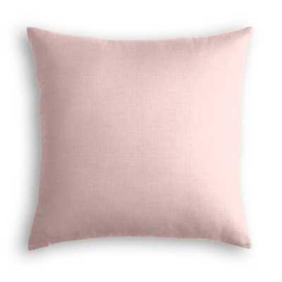 "Throw Pillow  Classic Linen - Blush - 18"" x 18"" - No Insert - Loom Decor"