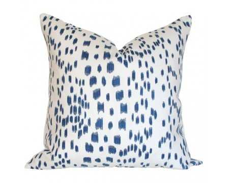 "Les Touches Blue 18"" Pillow Cover - Arianna Belle"