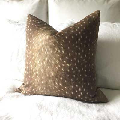 "CUSTOM Deer Print Pillow Cover - 20"" x 20"" - No Insert - Willa Skye"