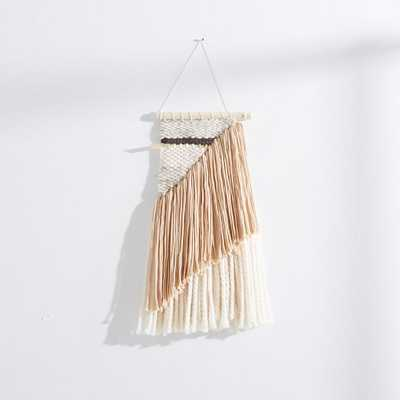 SunWoven Charcoal + Grey Wall Hanging – Small - West Elm